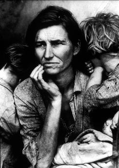 Famous image: Dorothea Lange took this photo of a destitute 32-year-old mother of seven in California in 1936.