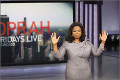 "An emotional Oprah Winfrey told the audience during the taping of her show Friday morning that ""25 years feels right."" She will hit that milestone in 2011 when she says her show wil end."