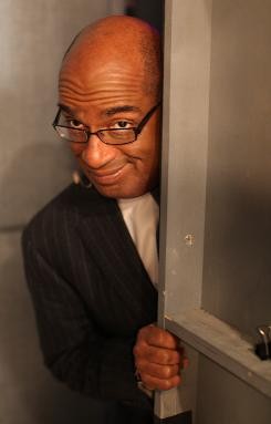 Al Roker, shown backstage at the Today show, has written The Morning Show Murders, which may make his Today pals uneasy.