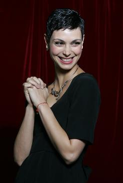 """Fun to be mysterious"": Morena Baccarin is the president of the Visitors, Anna, in the new ABC series."
