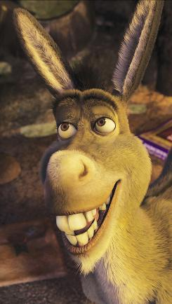 "Shrek sidekick Donkey (shown here in Shrek 2) is back, and Eddie Murphy again voices him. ""All that was loved about Shrek in the first film is brought to the final film,"" says Bill Damaschke, head of creative production at DreamWorks."