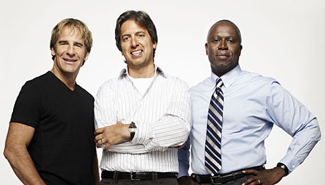 Scott Bakula, left, Ray Romano and Andre Braugher explore the intricacies of life for Men of a Certain Age.