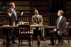Legal team: James Spader, left, David Alan Grier and Richard Thomas star in David Mamet's newest play, Race, now playing on Broadway.