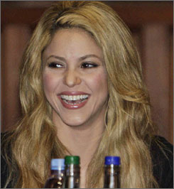 """I was born in Colombia, growing up in the developing world where education is perceived as a luxury and not as a birthright,"" Shakira said."