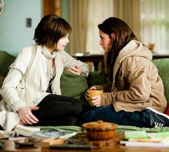 Series that started it all: Greene, left, and Kristen Stewart in New Moon. Greene also has filmed Skateland, which will compete at Sundance, and Warrior.