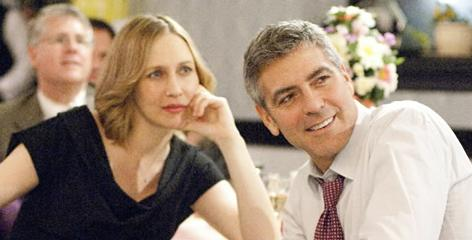 The music adds another layer: In this happy scene, Up in the Air star George Clooney tries to disguise his melancholy from Vera Farmiga, but Sad Brad Smith's Help Yourself exposes the audience to how isolated Clooney's corporate hatchet man really feels.