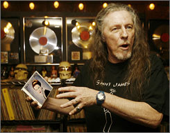 Guitarist James Gurley, shown here in 2007, died just two days short of his 70th birthday,