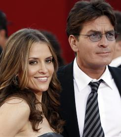"""A difficult time"": Charlie Sheen with his wife, Brooke Mueller Sheen."