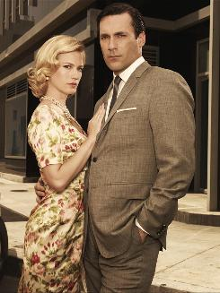 January Jones and Jon Hamm star as Betty and Don Draper in AMC's original series Mad Men.