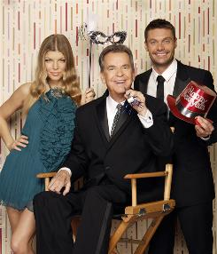 Dick Clark and Ryan Seacrest will being rocking in Times Square; Fergie will be hosting from Las Vegas.