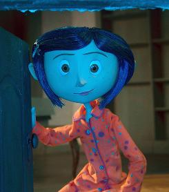 Cartoon heroines helped save the day  and year. That ghoulish girl Coraline was voiced by Dakota Fanning.