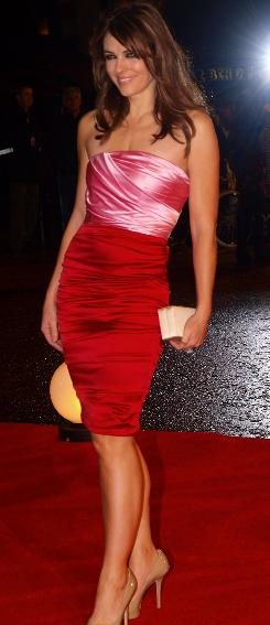 Elizabeth Hurley was a red-and-pink standout at the Did You Hear About the Morgans? premiere.