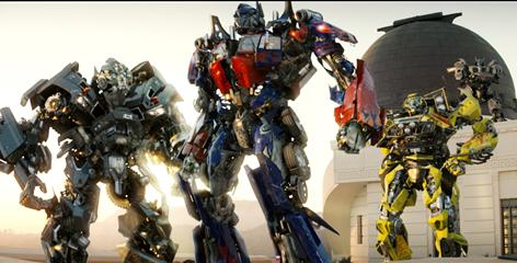 Ironhide, left, Optimus Prime, Ratchet and the other computer-generated Transformers were the real draw for the movie and its sequel.