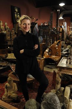 Elizabeth Gilbert knows commitment: She owns the Two Buttons shop in Frenchtown, N.J., with her husband.