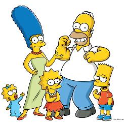 They're the Simpsons: Maggie, left, Marge, Lisa, Homer and Bart have been TV regulars since 1990.