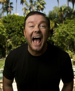 He'll say a mouthful: Ricky Gervais hosts Sunday's Golden Globes, and he promises an improvisational vibe for the awards show.