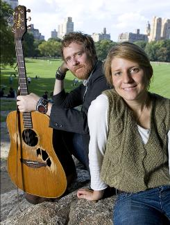 Glen Hansard and Marketa Irglova of Swell Season are no longer a romantic couple, but they remain good friends and musical partners.