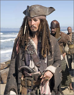 Johnny Depp's quirky performance in the Pirates franchise has helped make his Captain Jack Sparrow character a pop culture icon.