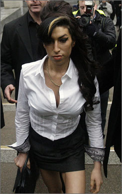 Amy Winehouse arrives at Magistrates Court in Milton Keynes, England, Wednesday.