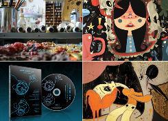 Images courtesy Murphy Design, clockwise from top left: Clayton Brothers' studio, Tim Biskup detail, Camille Rose Garcia detail, Scribble.08 DVD