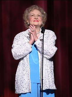 "Betty White says of the SAG acronym: ""It makes me nervous. I always want to put my arm under my boobs."""