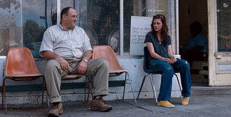 Grieving: James Gandolfini tries to make up for losing a daughter by helping a runaway/stripper (Kristen Stewart) in Welcome to the Rileys.