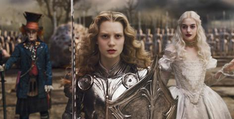 The Mad Hatter (Johnny Depp), Alice (Mia Wasikowska) and the White Queen (Anne Hathaway) are back in this supercharged take on Lewis Carroll's classic tale.