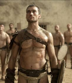 He is Spartacus: Andy Whitfield is sold to a gladiator camp.
