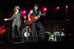 Lady Antebellum's Hillary Scott, left, Charles Kelley and Dave Haywood.