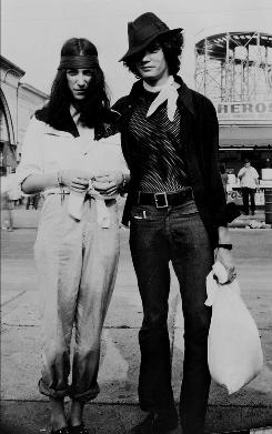 In 1969: Patti Smith and Robert Mapplethorpe at Coney Island.
