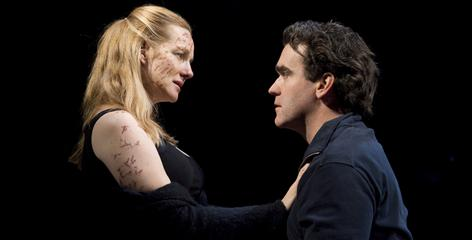 Laura Linney and Brian d'Arcy James star in the Manhattan Theatre Club's production of Donald Margulies' Time Stands Still.