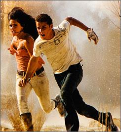 Megan Fox and Shia LaBeouf star in Transformers: Revenge of the Fallen.