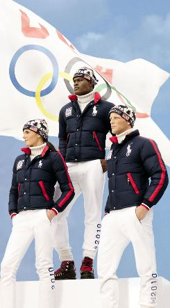 Athletes will walk in the opening ceremony in Ralph Lauren puffer jackets, classic cable turtlenecks and vintage-inspired knit hats.