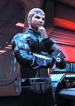 """I instruct players on how to navigate worlds"": Zachary Quinto, who starred in 2009's Star Trek movie, provides the voice for an Emergency Medical Hologram in Star Trek Online."