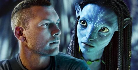 Sam Worthington and Zoe Saldana of Avatar, which is up for nine Academy Awards.