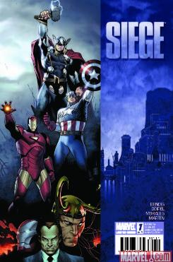 Cover image to Marvel Comic's 'Siege' issue #1, the top-selling comic book of January 2010.
