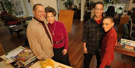 Jerry and Gloria Pinkney, their son Brian and his wife, Andrea Davis Pinkney, have all been published. Younger son Myles and his wife, Sandra, combine photography and words for picture books.