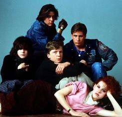 Signed, The Breakfast Club: Molly Ringwald, left, Judd Nelson, Anthony Michael Hall, Emilio Estevez and Ally Sheedy.