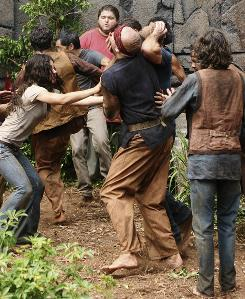 """Kate (Evangeline Lilly, left) eventually finds herself on the run in an episode titled """"What Kate Does."""""""