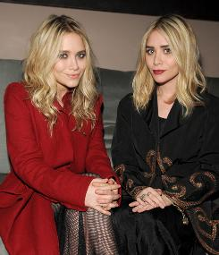 """A lifestyle brand"": Mary-Kate, left, and Ashley Olsen at New York launch party for their Olsenboye juniors collection."