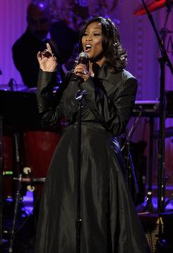"Grammy-winning singer Yolanda Adams performs during ""A Celebration of Music from the Civil Rights Movement"" at the White House on Tuesday."