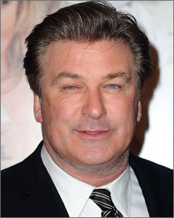 Alec Baldwin was briefly treated at a New York hopsital last night but is expected to be back at work on 30 Rock today.