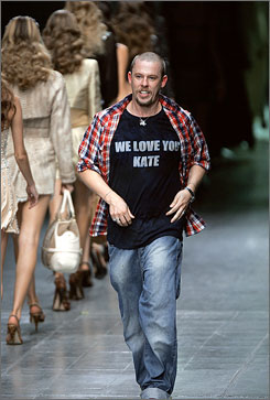 British designer Alexander McQueen was found dead at his London home on Thursday. He was 40.