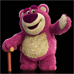 Move over, Strawberry Shortcake: Toy Story 3'sLots-o'-Huggin' Bear also smells of berries.
