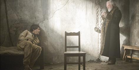 Benicio Del Toro stars as the afflicted Lawrence Talbot. Anthony Hopkins plays his father.