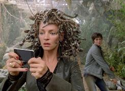 Medusa, played by Uma Thurman, is about to tangle with Percy (Logan Lerman).