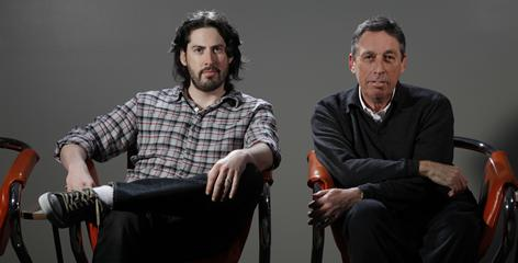 In his own right: Up in the Air director Jason Reitman didn't want to get favors from his father, Ghostbusters director Ivan Reitman. But now, as co-producers, the two share Up in the Air's best-picture Oscar nomination.