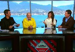 Figure Skating Review and Preview: Terry Gannon, left, Dick Button, Kristi Yamaguchi and Peter Carruthers don't hold back, and neither do their diverse guests.