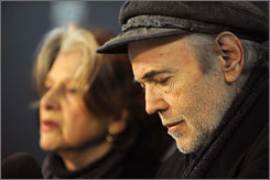 Walter Koenig, shown here with his wife, Judith, said his son stopped taking antidepressant medications about a year ago.