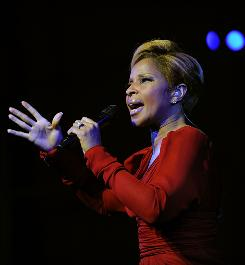 Mary J. Blige, who sings I Can See in Color for the film Precious, is among big names bypassed.